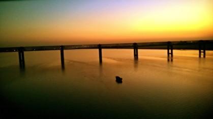 Alone Boat   Sunrise